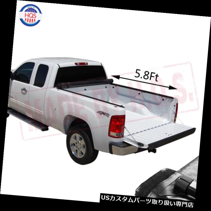 トノーカバー トノカバー 柔らかいロールアップ2007-2013シボレーシルバラードGMCシエラ用トノーカバー5.8フィートベッド Soft Roll Up Tonneau Cover 5.8Ft Bed For 2007-2013 Chevy Silverado GMC Sierra