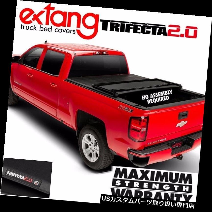 トノーカバー トノカバー 2011-2019ラム1500 6.4 'ベッドのためのEXTANG Trifecta 2.0トリフォールドビニールトノカバーカバー EXTANG Trifecta 2.0 Tri Fold Vinyl Tonneau Cover For 2011-2019 Ram 1500 6.4' Bed