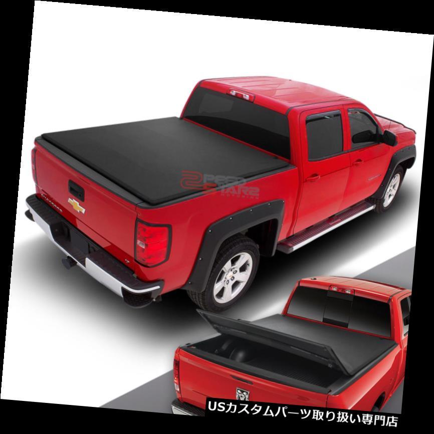 トノーカバー トノカバー FOR 04-14 F150ピックアップトラック6.5インチトランクベッド用フレアサイド3つ折りソフトトンネカバー FOR 04-14 F150 PICKUP TRUCK 6.5'TRUNK BED FLARE SIDE TRI-FOLD SOFT TONNEAU COVER
