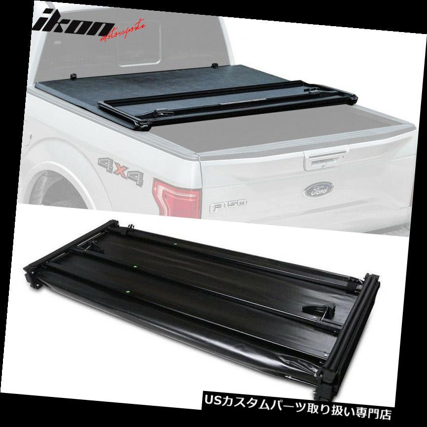 トノーカバー トノカバー フィット05-18日産フロンティア09-14スズキ赤道6 Ftベッド三つ折りトノーカバー Fits 05-18 Nissan Frontier 09-14 Suzuki Equator 6 Ft Bed Tri-fold Tonneau Cover