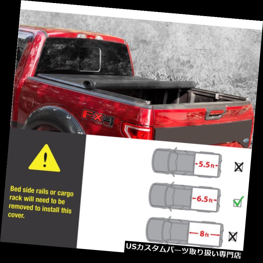 トノーカバー トノカバー 6.5Ft短いベッドが付いている2004-2014年のフォードF-150のための柔らかいロールアップのTonneauカバーを締めて下さい Lock Soft Roll Up Tonneau Cover For 2004-2014 Ford F-150 With 6.5Ft Short Bed