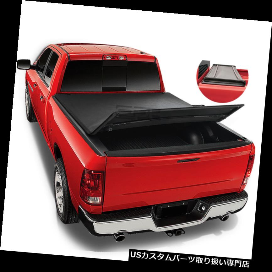 トノーカバー トノカバー フィット02-16ダッジラム8 'ソフトトップ三つ折り調節可能なトランクベッドトンネカバー Fit 02-16 Dodge Ram 8' Soft Top Tri-Fold Adjustable Trunk Bed TONNEAU COVER