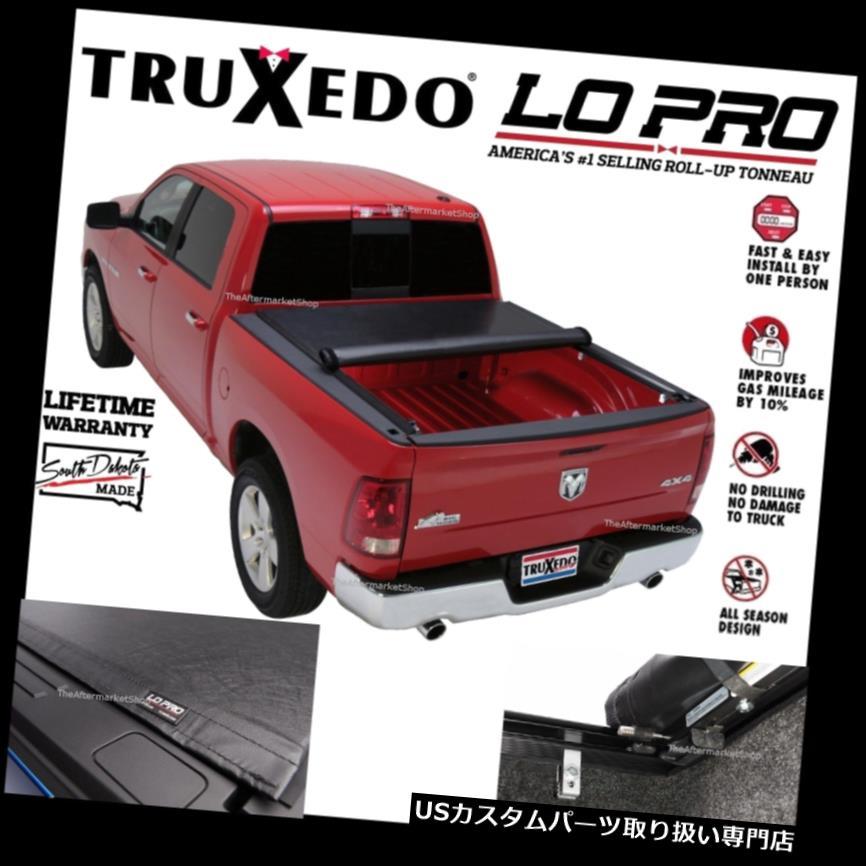 USトノーカバー/トノカバー Truxedo LoPro QTは2009-2019 Ram 1500 5'7ベッドW / Ramボックス用トノカバーをロールアップ Truxedo LoPro QT Roll Up Tonneau Cover For 2009-2019 Ram 1500 5'7 Bed W/ Ram Box