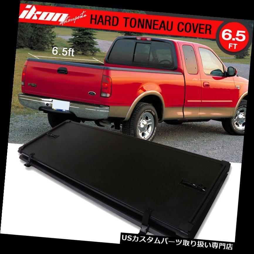 USトノーカバー/トノカバー 97-03 F-150ロック三つ折りハードソリッドトノカバー6.5 ftショートベッドにフィット Fits 97-03 F-150 Lock Tri-Fold Hard Solid Tonneau Cover 6.5 ft Short Bed