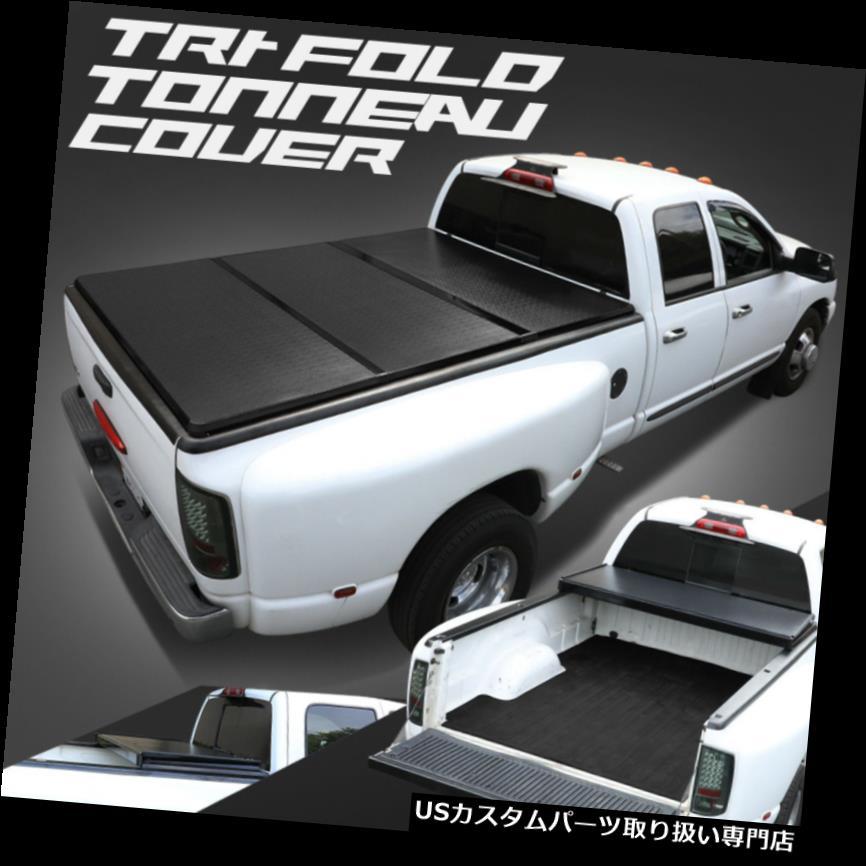 トノーカバー トノカバー 09-18ラムトラック5.8 'ベッドアルミフレームハードソリッド三つ折りトノカバー用 For 09-18 Ram Truck 5.8' Bed Aluminum Frame Hard Solid Tri-Fold Tonneau Cover