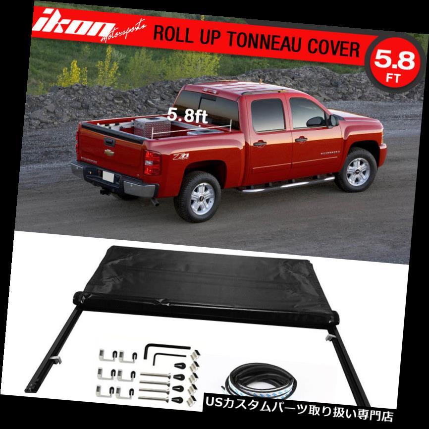 トノーカバー トノカバー フィット07シルバラード1500クルーキャブ5.8フィート68インチベッドロックソフトロールアップトノーカバー Fits 07 Silverado 1500 Crew Cab 5.8ft 68in Bed Lock Soft Roll Up Tonneau Cover