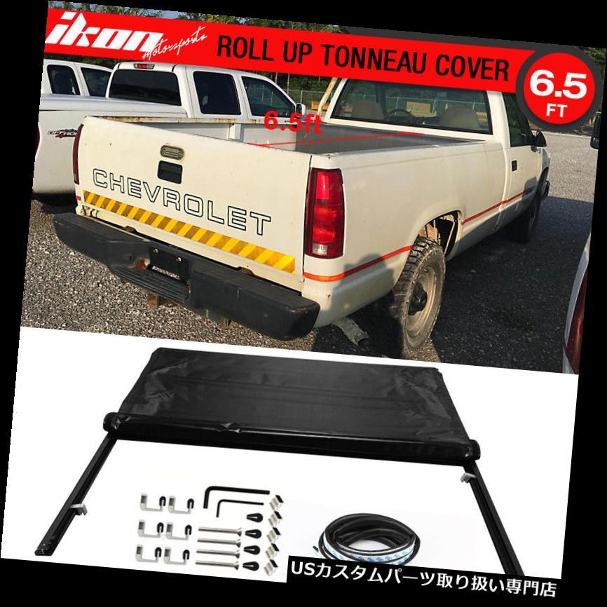 トノーカバー トノカバー 98-00シボレーGMC CK 78インチショートベッドロールロックソフトスタイルブラックトノーカバーにフィット Fits 98-00 Chevy GMC CK 78in Short Bed Roll Lock Soft Style Black Tonneau Cover