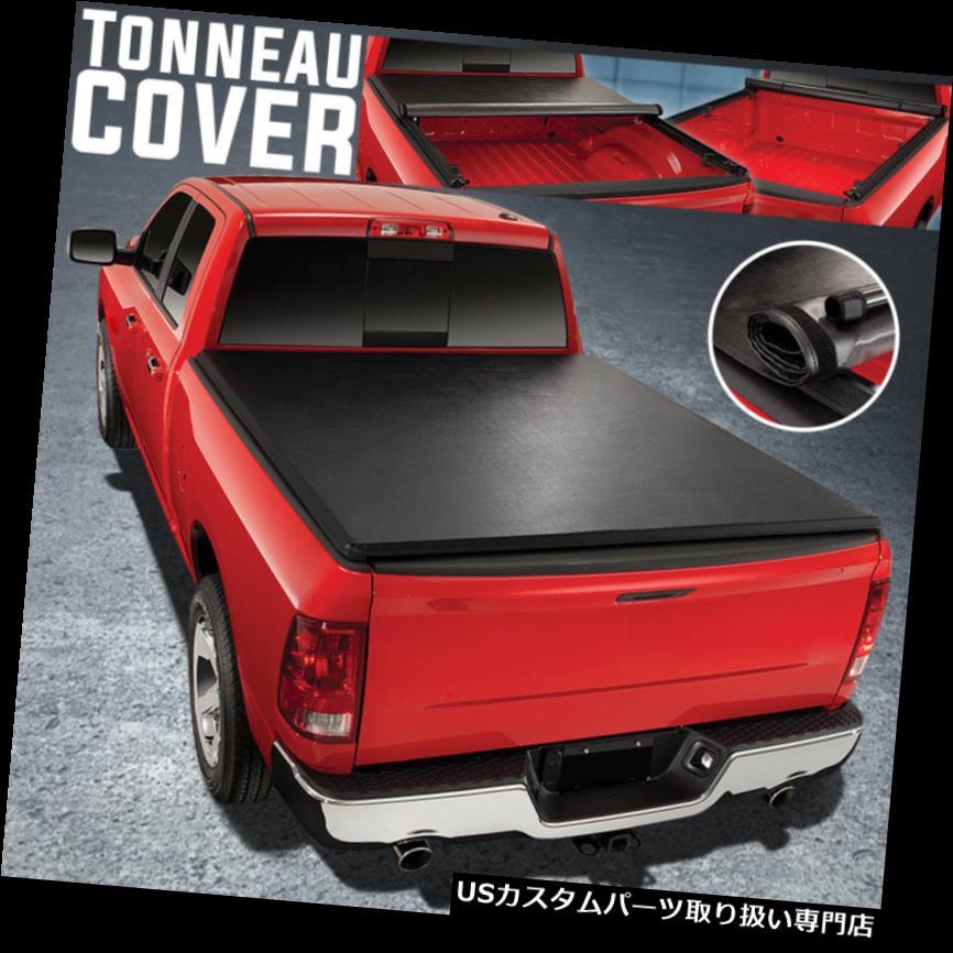 トノーカバー トノカバー 09-18ラムトラック6.5Ftショートベッドロールアップソフトビニールトノカバーアセンブリのため For 09-18 Ram Truck 6.5Ft Short Bed Roll-Up Soft Vinyl Tonneau Cover Assembly