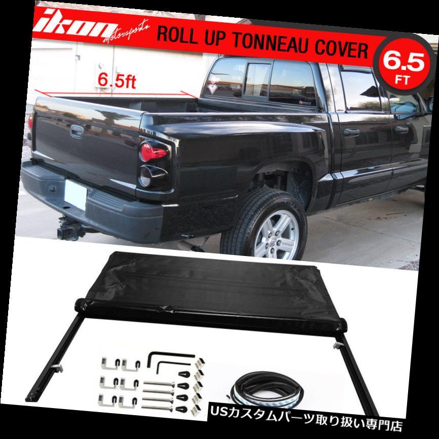 トノーカバー トノカバー フィット05-11ダッジダコタクワッドキャブ06-09 Radier 78インチベッドブラックトノーカバー Fits 05-11 Dodge Dakota Quad Cab 06-09 Radier 78 Inch Bed Black Tonneau Cover