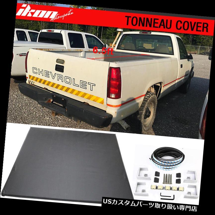 トノーカバー トノカバー 98-00 CHEVY GMC C / Kピックアップ6.5 ft 78インチベッドロックソフト三つ折りトノーカバーにフィット Fits 98-00 CHEVY GMC C/K Pickup 6.5 ft 78in Bed Lock Soft Tri-Fold Tonneau Cover