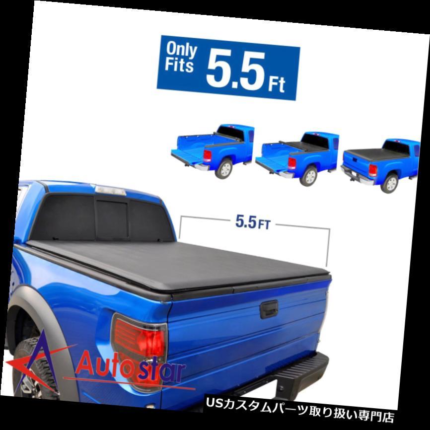 トノーカバー トノカバー JDMSPEED 5.5 'ショートベッドは2004-2018フォードF - 150用ソフトトノーカバーをロールアップ JDMSPEED 5.5' Short Bed Roll Up Soft Tonneau Cover For 2004-2018 Ford F-150