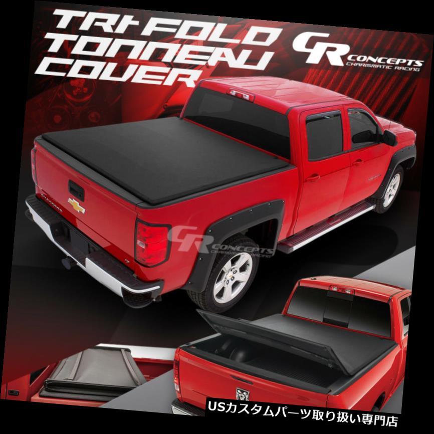 トノーカバー トノカバー 05-15トヨタタコマ用5 'ブラックビニールソフトトップ調整可能三つ折りトネカバー 5'BLACK VINYL SOFT-TOP ADJUSTABLE TRI-FOLD TONNEAU COVER FOR 05-15 TOYOTA TACOMA