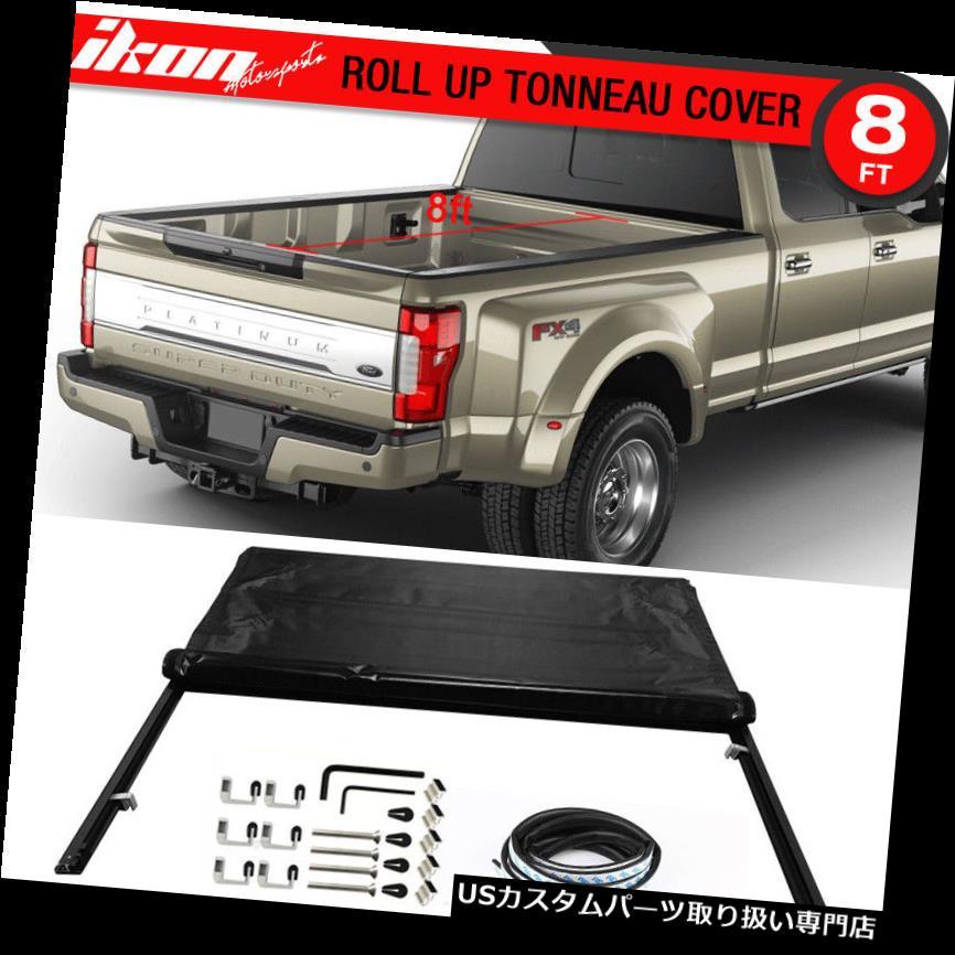 トノーカバー トノカバー フィット99-17フォードF250 F350 F450 SuperDuty 8ftベッドロックソフトロールアップトノーカバー Fits 99-17 Ford F250 F350 F450 SuperDuty 8ft Bed Lock Soft Roll Up Tonneau Cover