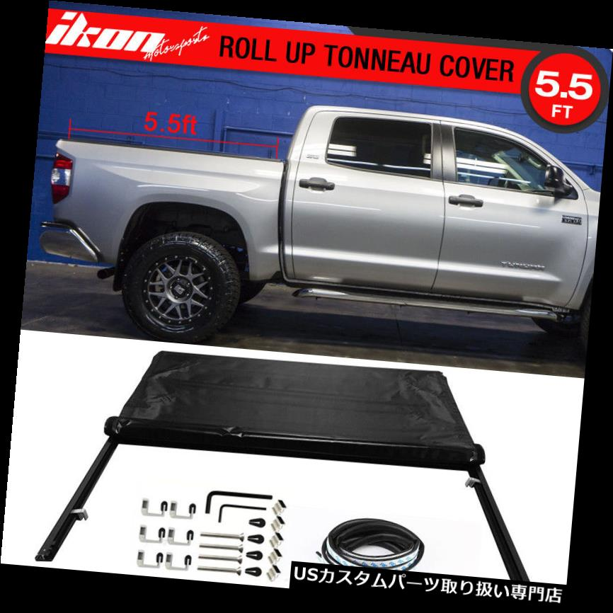 トノーカバー トノカバー フィット07-16ツンドラSR5クルーマックスダブル5.5ftベッドロックソフトロールアップトノーカバー Fits 07-16 Tundra SR5 Crewmax Double 5.5ft Bed Lock Soft Roll Up Tonneau Cover