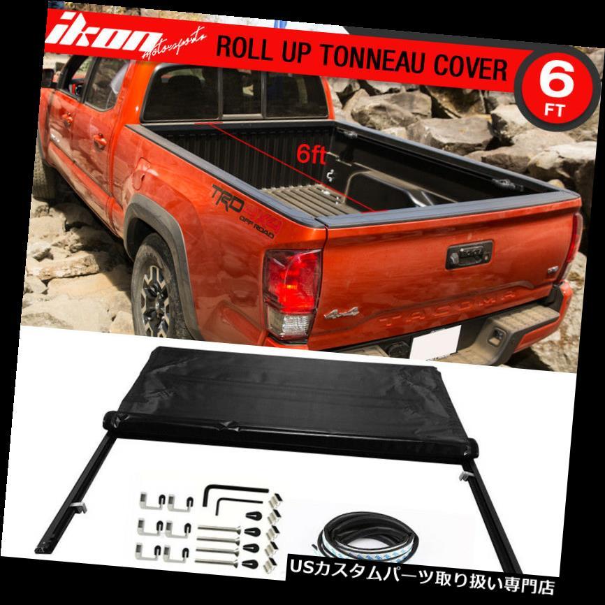 トノーカバー トノカバー フィット16-17トヨタタコマ6ft / 72インチベッドロックソフトロールアップトノーカバー Fits 16-17 Toyota Tacoma 6ft / 72in Bed Lock Soft Roll Up Tonneau Cover