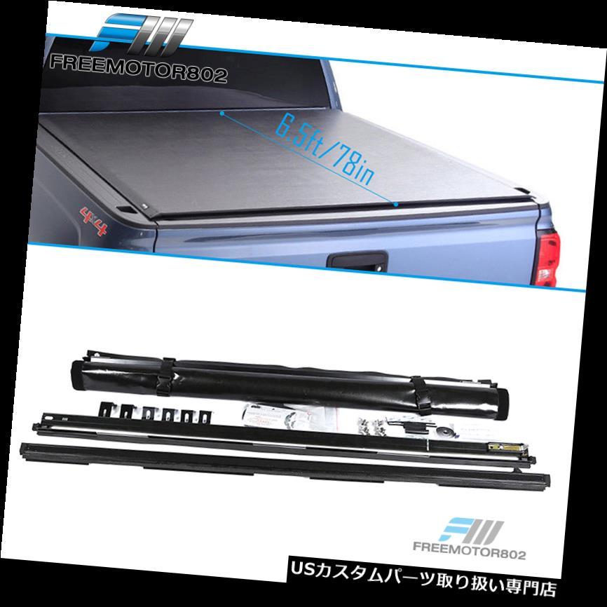 トノーカバー トノカバー 07-19にフィットトヨタツンドラ6.5フィートショートベッドブラックロールアップトノーカーゴカバー Fits 07-19 Toyota Tundra 6.5ft Short Bed Black Roll Up Tonneau Cargo Cover
