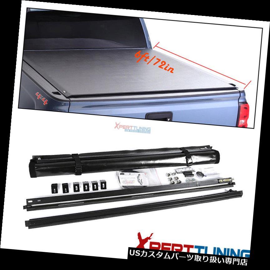 トノーカバー トノカバー 16-18トヨタタコマ6フィート/ 72インチベッドビニールロールアップトノーカバー Fits 16-18 Toyota Tacoma 6ft/72in Bed Vinyl Roll Up Tonneau Cover