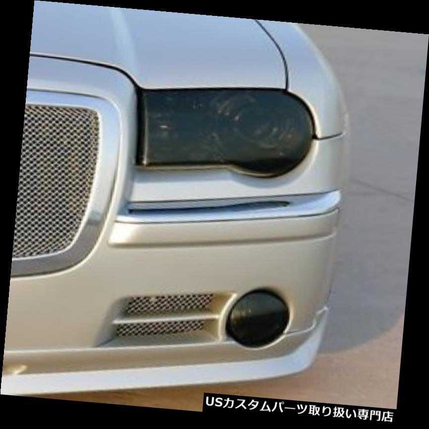 ヘッドライトカバー 05-10クライスラー300Cスモークヘッドライトカットティンバーカバーオーバーレイ 05-10 CHRYSLER 300C SMOKE HEAD LIGHT PRECUT TINT COVER SMOKED OVERLAYS