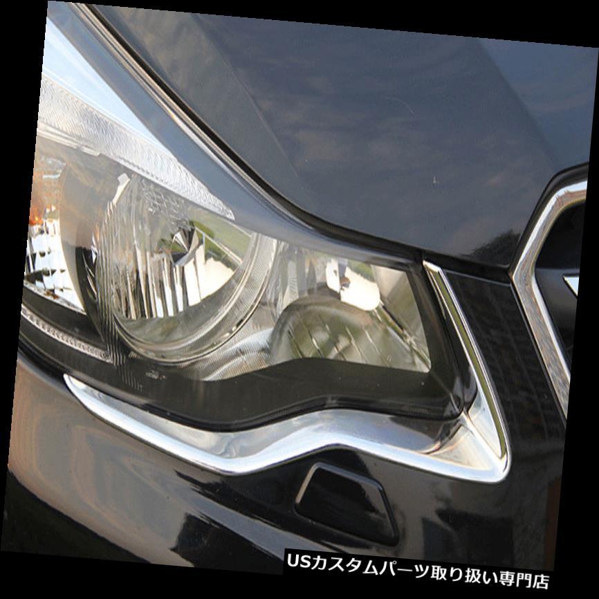 ヘッドライトカバー スバルXVインプレッサハッチバック2012-2015用2xフロントヘッドライトまぶたカバートリム 2x Front Head Light Eyelid Cover Trim For Subaru XV Impreza Hatchback 2012-2015