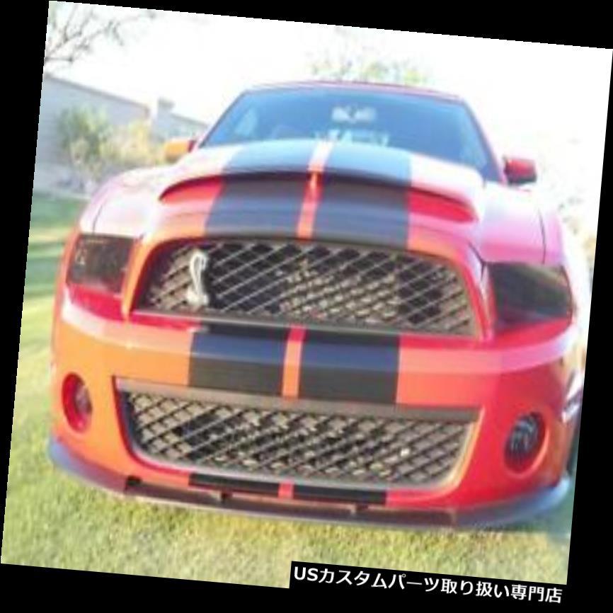 ヘッドライトカバー フォードマスタングGTコブラシェルビーGT500ヘッドライトカバーブラックスモークまたはクリア10-14 Ford Mustang GT Cobra Shelby GT500 Head Light Covers Black Smoked Or Clear 10-14