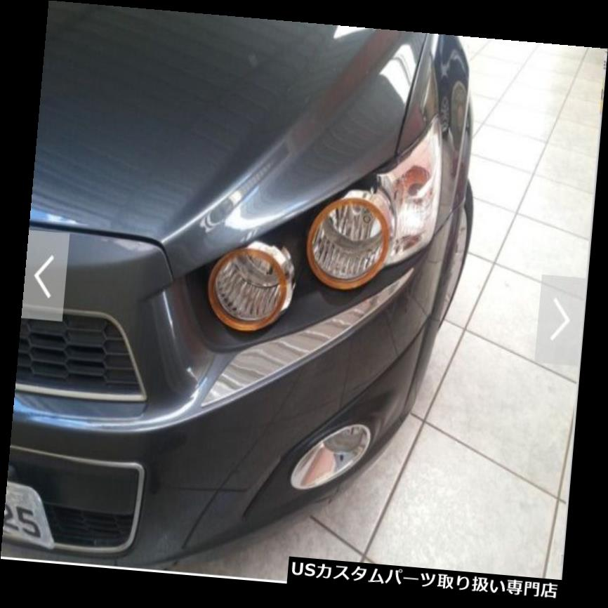 ヘッドライトカバー シボレーソニック2012 4ドアハッチバック用オレンジヘッドランプライトカバートリム ORANGE HEAD LAMP LIGHT COVER TRIM FOR CHEVROLET SONIC 2012 4DOOR HATCHBACK
