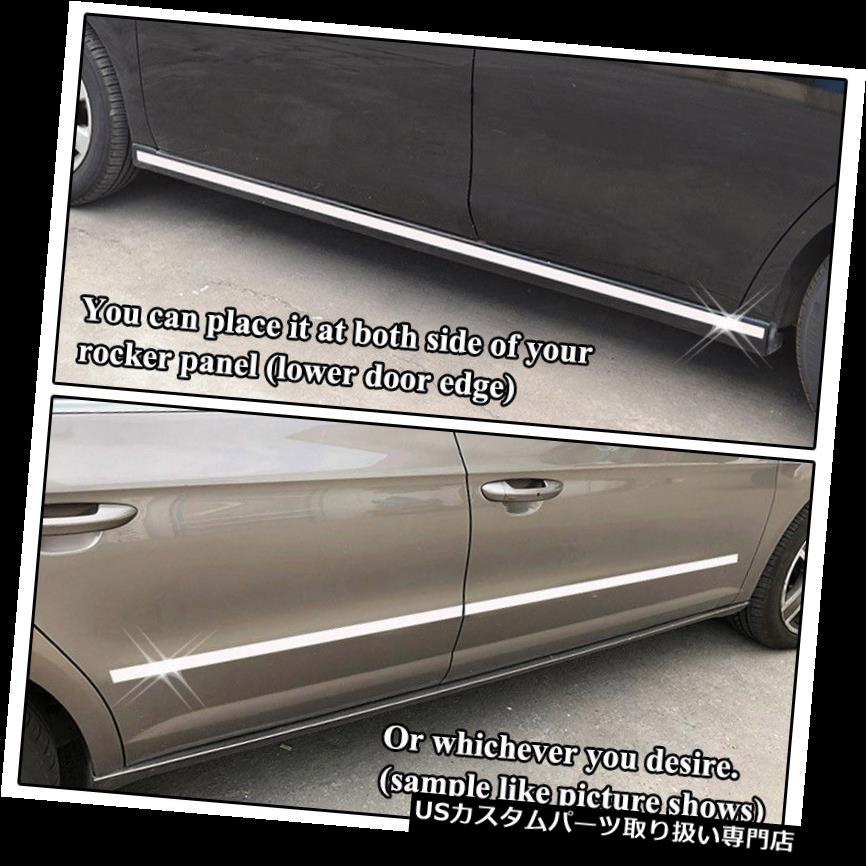 USロッカーパネルカバー フォードダッジシボレーモデル12メートルのためのクロームドアサイドロッカーパネルトリムカバー成形 Chrome Door Side Rocker Panel Trim Cover Molding For Ford Dodge Chevy Models 12m