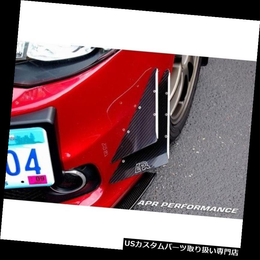 USカナード APRパフォーマンスカーボンファイバーフロントバンパーカナードセット03-05エボリューション8 EVO VIII APR Performance Carbon Fiber Front Bumper Canards Set 03-05 Evolution 8 EVO VIII