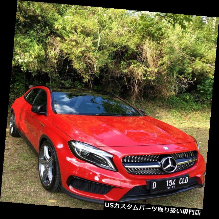 USカナード メルセデスベンツGLAクラスX 156 14-17 ABSフロントバンパースプリッタフィンカナード用 For Mercedes Benz GLA-Class X156 14-17 ABS Front Bumper Splitter Fin Canard