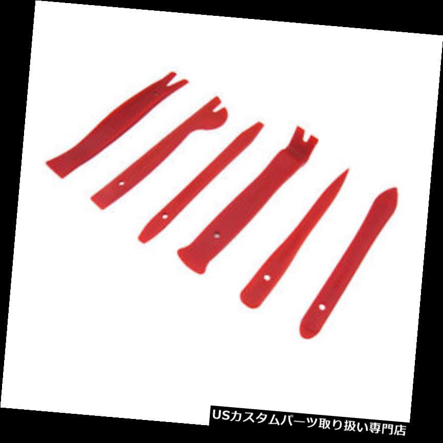 ダッシュボードマット 6本レッドナイロン高強度車のドアパネルダッシュトリム取り外しPryオープンツールキット  6pcs Red Nylon High-Strength Car Door Panel Dash Trim Removal Pry Open Tool Kits