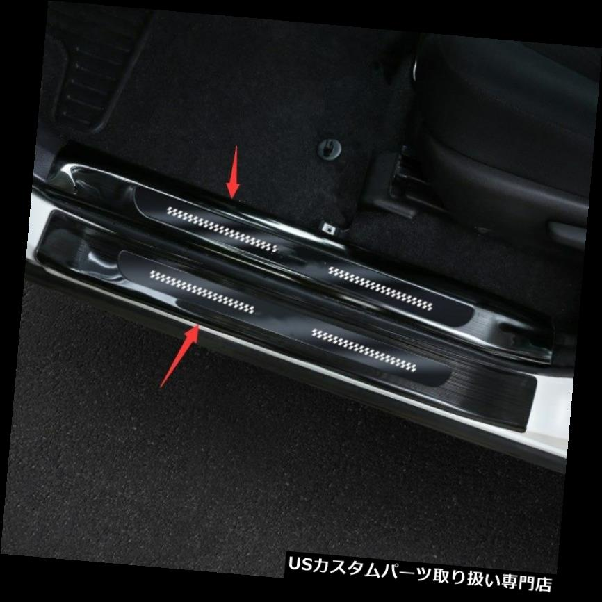 超美品 ペダル トヨタRAV4 2016 2017 2017 2018のための黒い歓迎のペダルのドアの土台の傷のトリムパネル Black Welcome Pedal Door Sill Scuff Trim Panel For Toyota RAV4 2016 2017 2018, デコライト 2dc9e8a7