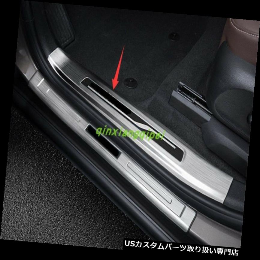 ペダル Buick Envision 2016 2017 2018のための組み込みの歓迎されたペダルのドアの土台の傷のトリム Built-in Welcome Pedal Door Sill Scuff Trim For Buick Envision 2016 2017 2018