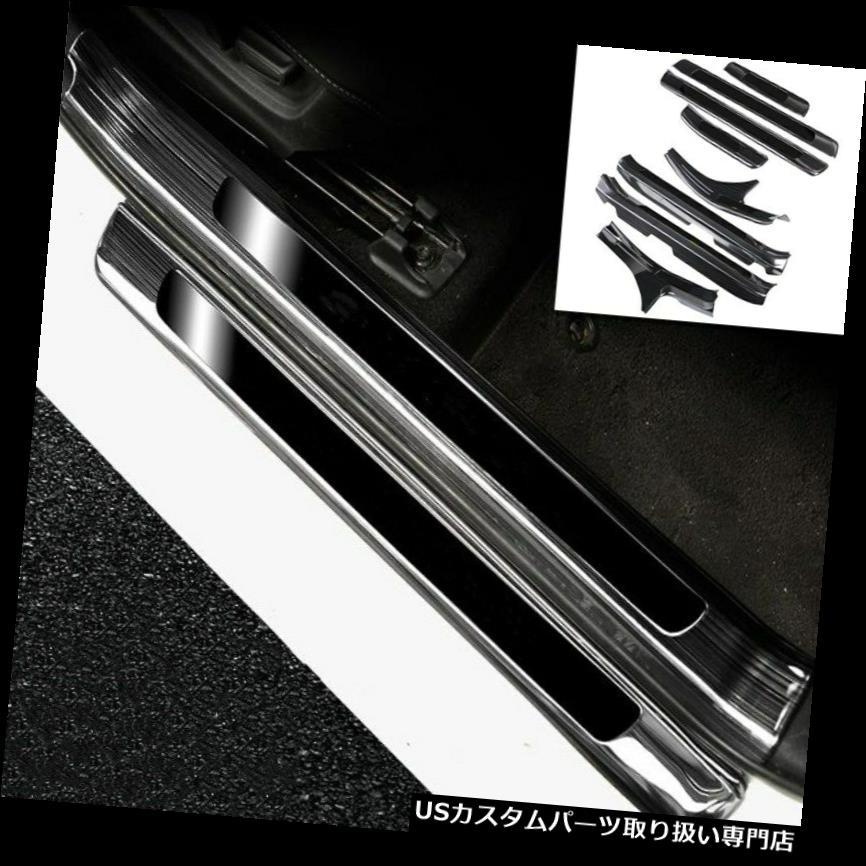 ふるさと納税 ペダル トヨタカムリ2018-2019のための黒いチタニウム車の歓迎のペダルのドアの土台の傷のトリム Black titanium Car Welcome Pedal Door Sill Scuff Trim For Toyota Camry 2018-2019, MUSICLAND WEB SHOP dcf6e1d0