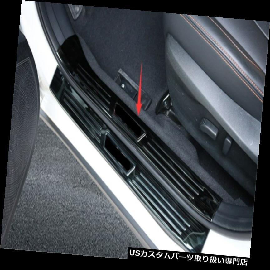ペダル スバルXV 2018-2019のための黒いチタニウムの組み込みの歓迎されたペダルのドアの敷居の傷 Black titanium Built-in Welcome Pedal Door Sill Scuff For Subaru XV 2018-2019