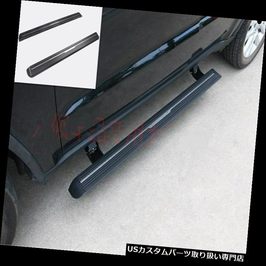 ペダル ジープグランドチェロキー2014-2019用スチールサイドペダルステップボードフットボードトリム Steel Side Pedal Step Board Foot Board trim For Jeep Grand Cherokee 2014-2019