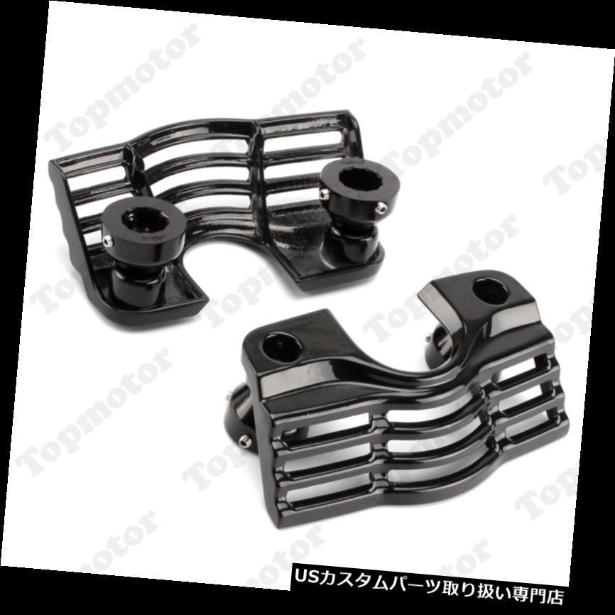 トライク カバー ハーレートライクロードキングのための黒いフィンスパーク溝付きプラグヘッドボルトカバー Black Finned Spark Slotted Plug Head Bolt Covers For Harley Trikes Road King