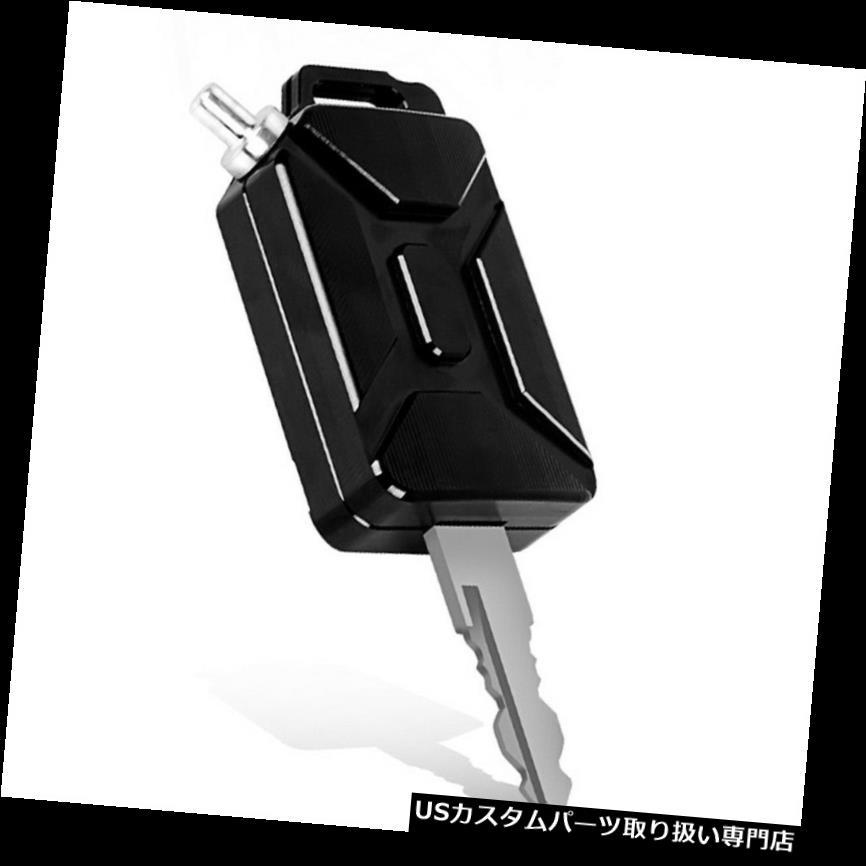 トライク カバー KTMブラック用高品質3D CNCオイルタンク形状オートバイキーカバーキーチェーン High-Quality 3D CNC Oil Tank Shape Motorcycle Key Cover Keychain For KTM Black