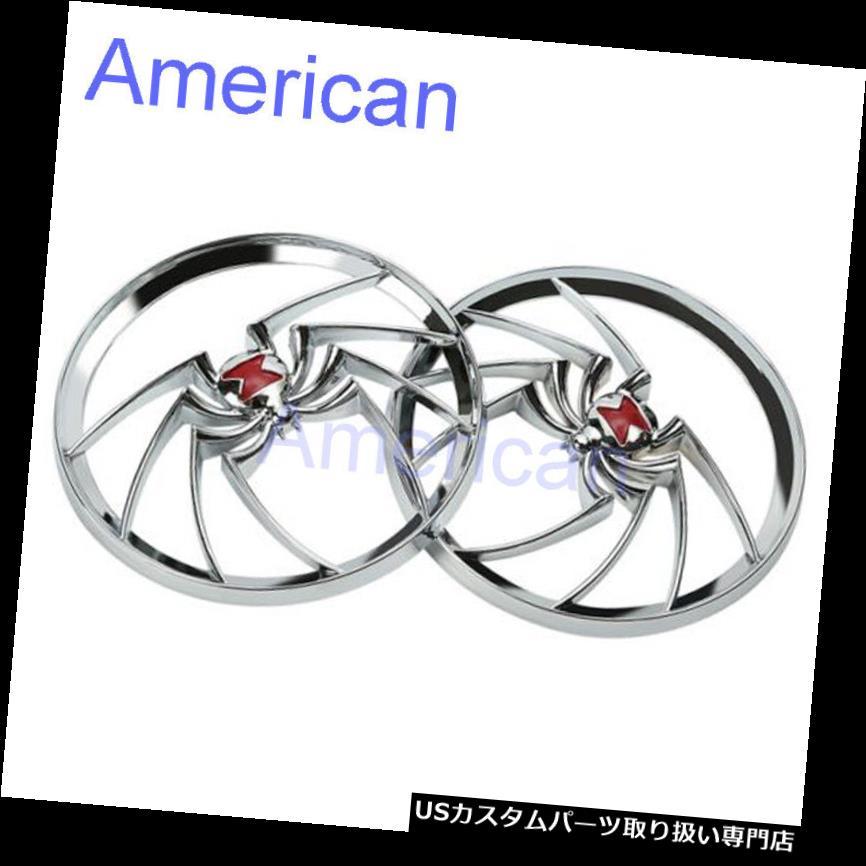 トライク カバー ハーレーツーリングエレクトラストリートグライドトライク用クローム未亡人スピーカーグリルカバー Chrome Widow Speaker Grills Cover For Harley Touring Electra Street Glide Trikes