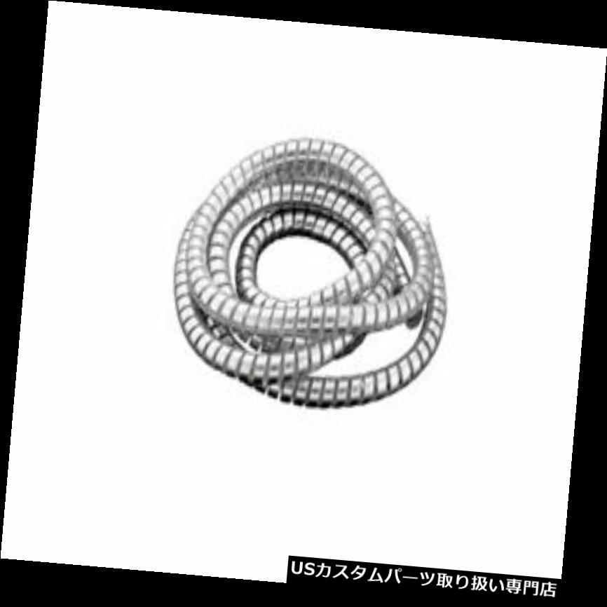 トライク カバー Chrom SpiralkabelラップAbdeckung Leitungen Ordentlich 10mm内径 Motorrad / Trike Chrom Spiralkabel Wrap Abdeckung Leitungen Ordentlich 10mm I.D. Motorrad/Trike