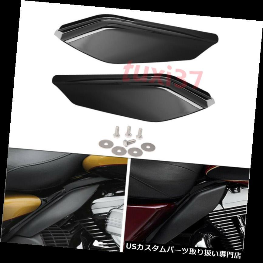 トライク カバー ブラックミッドフレームエアディフレクターヒートシールドカバーフィットハーレーツーリングトライク2017-UP Black Mid-Frame Air Deflector Heat Shield Cover Fit Harley Touring Trike 2017-UP