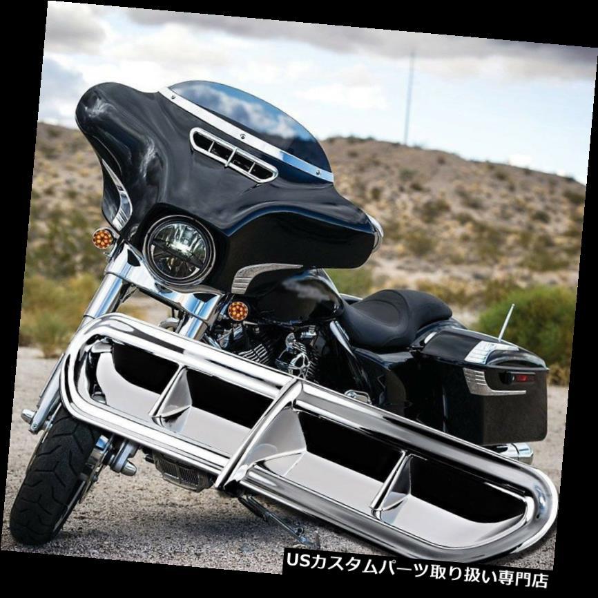 トライク カバー ハーレーツーリングFLトライク14-16 15のクロムバットウィングフェアリングベントアクセントカバー Chrome Batwing Fairing Vent Accent Cover For Harley Touring FL Trike 14-16 15