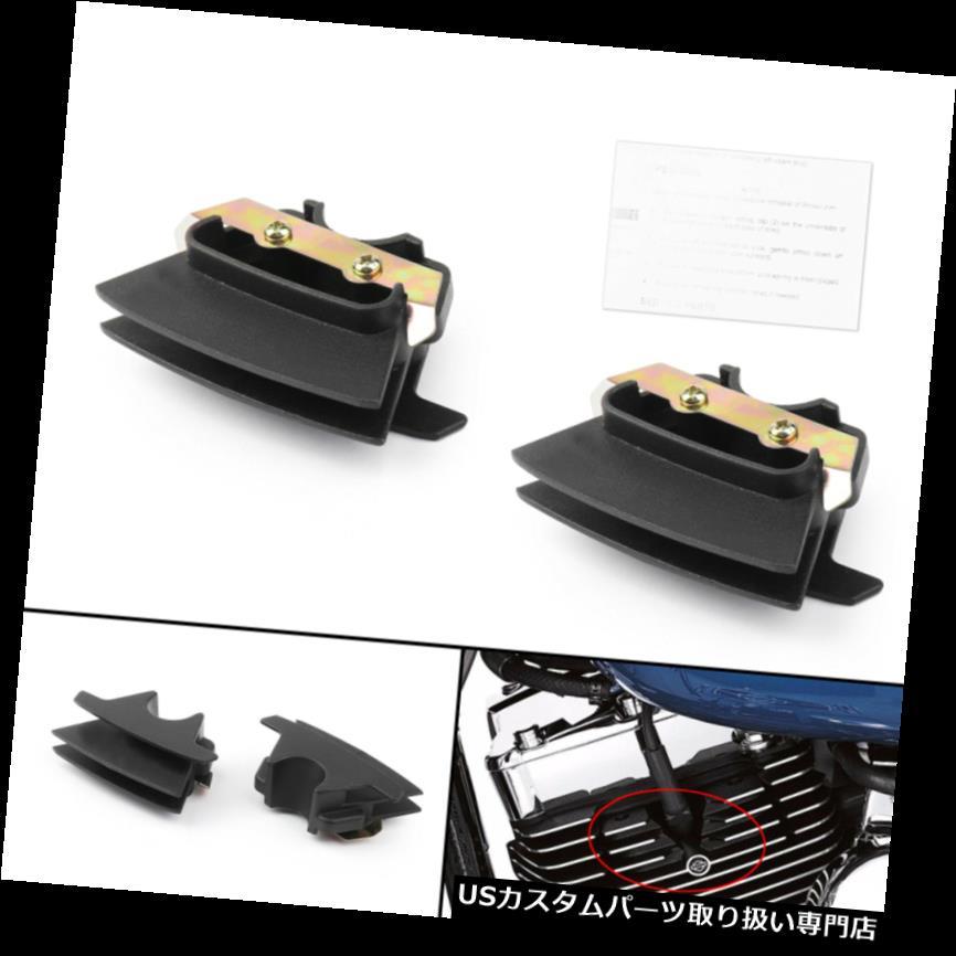 トライク カバー ツーリングソフテイルトライク2017-18 B4用ペアブラックフィンスパークプラグカバー Pair Black Finned Spark Plug Covers For Touring Softail Trikes 2017-18 B4