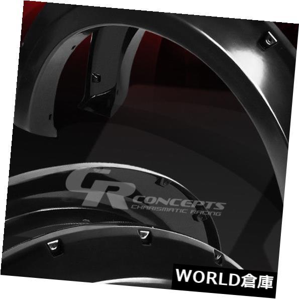 フェンダー フロント+リアマットABSサイドフェンダーホイールフレア/カバー04-08 FORD F150ピックアップ FRONT+REAR MATTE ABS SIDE FENDER WHEEL FLARES/COVERS FOR 04-08 FORD F150 PICKUP