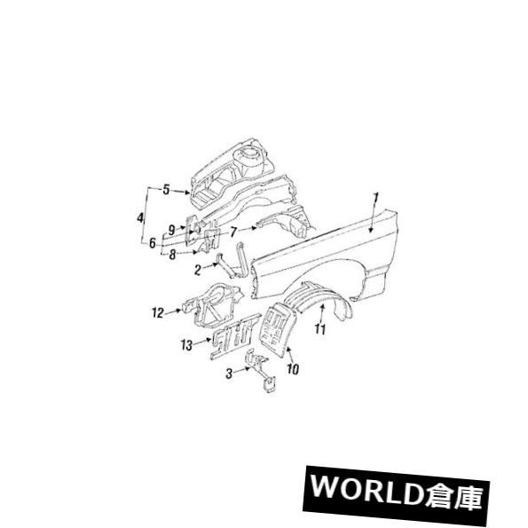 フェンダー 純正三菱OEフェンダーシールドライナー右サイドフロントエクステンション3000GT Genuine Mitsubishi OE FENDER SHIELD LINER RIGHT SIDE FRONT EXTENSION 3000GT