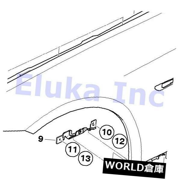フェンダー BMW純正ボディサイドパネルフェンダーフロントライトE92 E92N E93 E93N 41358042832 BMW Genuine Body Side Panel Fender Front Right E92 E92N E93 E93N 41358042832
