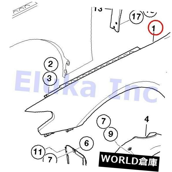 フェンダー BMW純正サイドパネルフェンダーフロント左E65 E66 BMW Genuine Side Panel Fender Front Left E65 E66