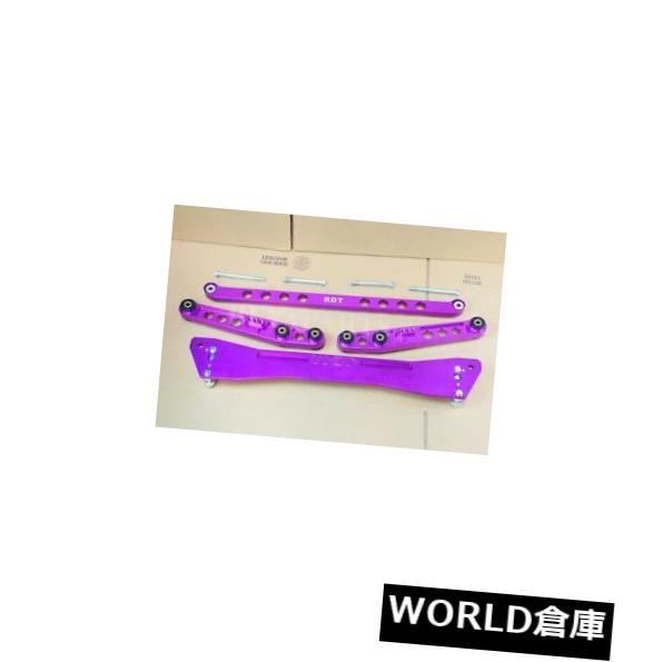有名な高級ブランド ロワアームバー Integra 1994-2001のための紫色の後部下部制御アームサブフレームブレースキット+タイバー Purple Rear Lower Control Arm Subframe Brace Kit + Tie Bar For Integra 1994-2001, e-通販TKS f32248f2