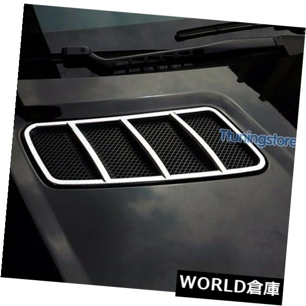 USフードベントトリム クロームフードベントモールディングトリムフィンカバーベンツW166 ML 2012+ X166 GLクラス2013+ Chrome Hood Vent molding Trim Fins Cover Benz W166 ML 2012+ X166 GL-Class 2013+