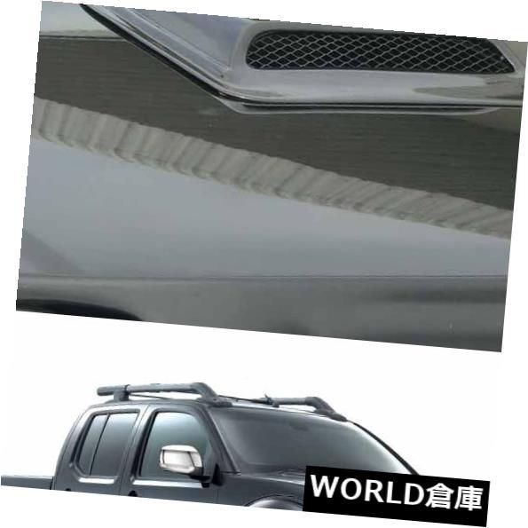 USフードベントトリム 日産ナバラD40 2006年2014年用ボンネットフードスクープベントカバートリムブラック Bonnet Hood Scoop Vent Cover Trim Black For Nissan Navara D40 2006 2014