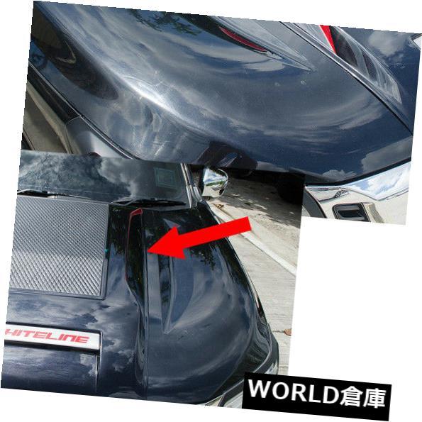 USフードベントトリム ボンネットフードスクープベントカバーV4トリムブラックフィット日産NP300ナバラ2014 - 2017 Bonnet Hood Scoop Vent Cover V4 Trim Black Fits Nissan NP300 Navara 2014 - 2017