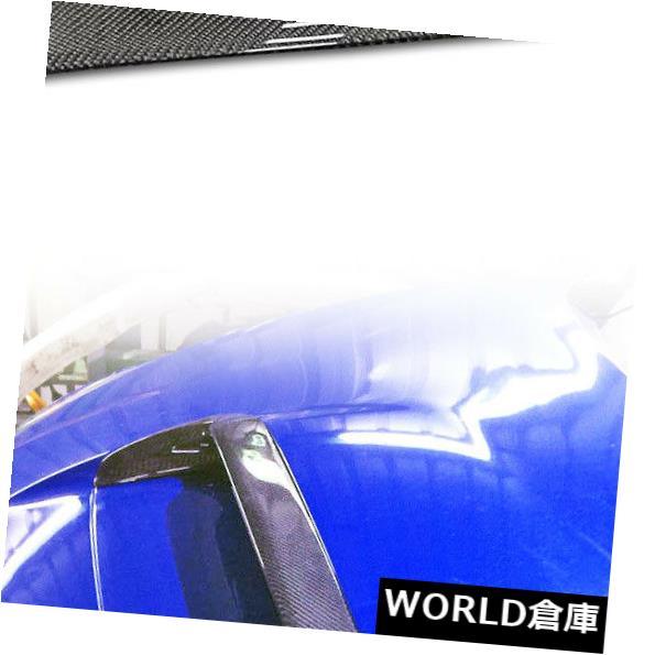 USフードベントトリム SUBARU WRX STI 4th Levorgフロントフードスクープベントカバートリム19用ドライカーボン Dry Carbon For SUBARU WRX STI 4th Levorg Front Hood Scoop Vent Cover Trim 19